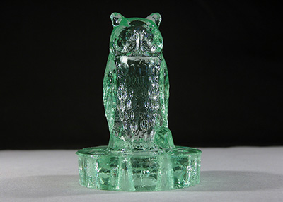 Miscellaneous Centrepieces Frogs – Art Deco Glass Owl Flower Frog