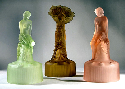 Sowerby Glass Lady Figurine
