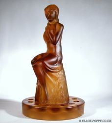 8.5 inch Seated Lady Flower Frog - Unknown Maker (1b)