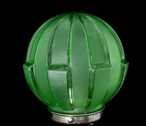 Art Deco Pressed Glass Lamp Shade  (14)