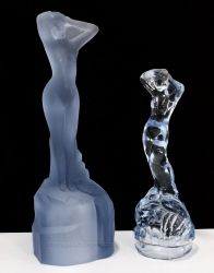 Bagley Glass Andromeda Statuette Two Sizes (2)