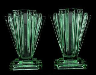 Bagley Glass Grantham Vases (1)