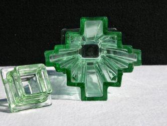 Bagley Glass Grantham Vases (1a)