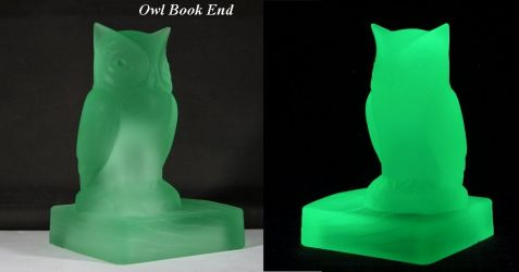 Bagley Glass Owl Bookends