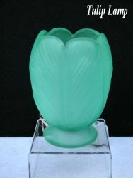 Bagley Glass Tulip Lamp