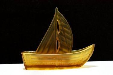 Boehmische Glasfabrik Boat Posy Bowl (3)