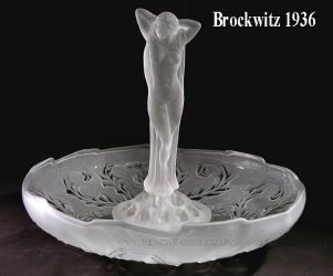 Brockwitz Glass Nude Lady, flower block and Thistle Bowl (1)