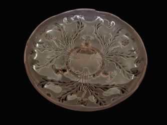 Brockwitz Glass Nude Lady, flower block and Thistle Bowl (5)