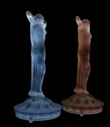 Brockwitz Glass Nude Lady, flower block and Thistle Bowl (7)