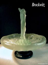 Brockwitz Glass Nude Lady, flower block and Thistle Bowl (9)