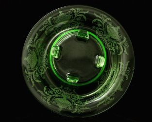 Cambridge Glass Draped Lady & Bowl 3