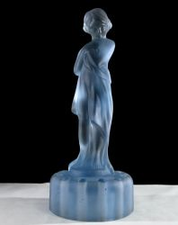 Cambridge Glass Draped Lady Moonlight Blue  Satin Finish (1)