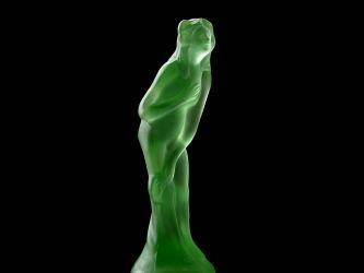 Cambridge Glass Light Emerald Satin Finish Bashful Charlotte (3)