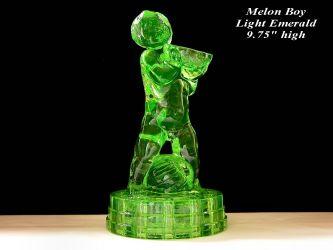 Cambridge Glass Melon Boy Light Emerald