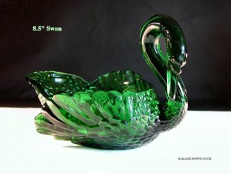 Cambridge Glass Swan - 2