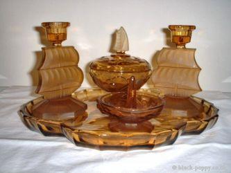 Glass Vanity Set Ship theme - Unknown Maker (1)