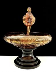 Jobling Glass Dancing Girl and Block (10a)