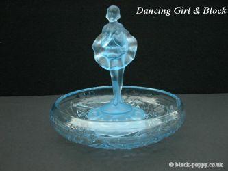 Jobling Glass Dancing Girl and Block (6)