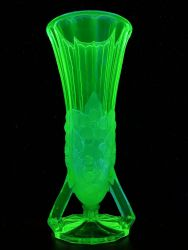 Jobling Glass Open Footed Vase Cat. No. 11600 (3)