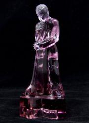 Libochovice Glassworks Amethyst Polished Glass Glass Blower -  (1)