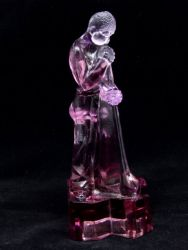 Libochovice Glassworks Amethyst Polished Glass Glass Blower - (2)