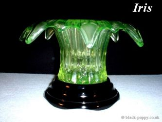 Sowerby Glass Iris Vase (1)