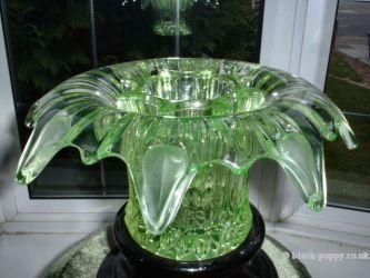 Sowerby Glass Iris Vase (2)