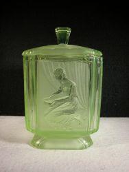 Sowerby Glass Pandora Biscuit Barrel (1)
