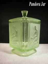 Sowerby Glass Pandora Biscuit Barrel (2)